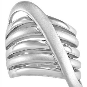 Sterling silver overlapping ring
